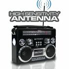 Portable Bluetooth Radio with AMFMSW Bands, Rechargeable Battery, AC Function