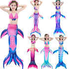 Kids Girls Mermaid Tail Bikini Sets - Swimmable Swimwear Swim Cosplay Costumes