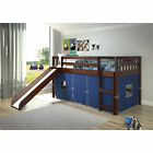 Donco Kids Dark Cappuccino Brazilian Pine Wood Mission Tent Loft Twin Bed with