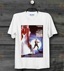 James Bond 007 The Living Daylights On the Edge Movie Poster White T Shirt   B12 £6.87 GBP on eBay