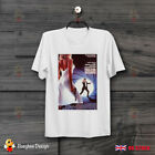 James Bond 007 The Living Daylights On the Edge Movie Poster White T Shirt   B12 $12.98 AUD on eBay