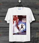 James Bond 007 The Living Daylights On the Edge Movie Poster White T Shirt   B12 $8.31 USD on eBay