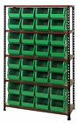 Boltless Particle Board Shelf with 32 Ultra Bins (Complete Package)