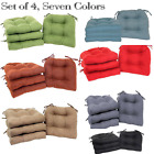 Chair Cushion with Ties Set of 4 Multiple Colors Patio Outdoor Furniture