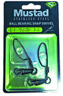 Mustad MA101 Ball Bearing Stainless Steel Swivel w/Tournament Snap