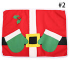 1 2X Placemat Cute Xmas Home Decoration Christmas Dinner Table Mat-Cutlery  Bag