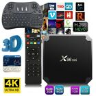 X96 Mini TV Box Android 7.1.2 Amlogic S905W Quad Core WiFi HD 4K Player+Keyboard