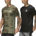 US Stock Men's Thermal Sports Camouflage Comfy Shirts Vintage Biker Fit T-shirts