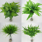 Artificial Plants Indoor Outdoor Fake Leaf Foliage Bush Home Office Garden