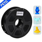 SUNLU PETG 3D Printer Filament 1.75mm 1KG/2.2LB Spool Black PET Printer Material