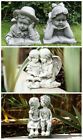 Boy And Girl Garden Ornaments Lawn Statues Hand Cast Figures Decor Antique