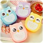 Kids Portable Cute Owl Cartoon Children Bento Lunch Box Food Container Storage