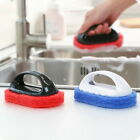 Strong Handle Sponge Scouring Gadget Wipe Cleaning Brush For Kitchen Bathroom GW