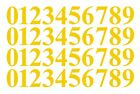 "0-9 Numbers Yellow Sticker Vinyl Decals Choose Size!! 1"" To 12"" Set Of 40 (v646)"