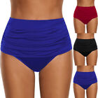 2018 Women Swimwear Swimsuit High Waisted Ruched Bikini Bottoms Briefs Panties A