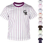 KH2008 Colorado Rockies Striped Baseball Jersey T-Shirts Uniform Dry Cool 0101 on Ebay