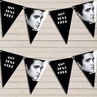 Black & White Elvis Presley Birthday Bunting Garland Personalized Flag Banner