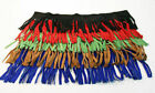 """Fringe - Genuine Suede Leather Trim 4"""" - Three 12"""" lengths - Lots of Colors"""