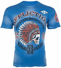 AFFLICTION Mens T-Shirt AC ARROW American Customs Motorcycle Biker UFC Jeans $58 image