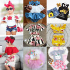 Внешний вид - Canis Newborn Kid Baby Girls Floral Off Shoulder Tops Shorts Tutu Outfit Clothes