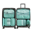 6/7PCS Packing Cubes Luggage Storage Organiser Travel Compression Suitcase Bags