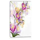 Design Art Vector Purple Flowers Painting Print on Wrapped Canvas