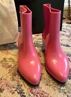 Melissa Ankle Boot + Jeremy Scott (Moschino) HOT PINK AUTHENTIC  Shoes 7 NIB FUN