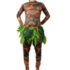 Moana Maui Tattoo Halloween Adult T Shirt Pant Cosplay Costume Overall Clothes