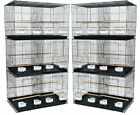 YML Lot of Six Small Bird Cage with Divider