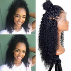 lace front wigs for black hair - New Afro Kinky Curly Lace Front Wigs Brazilian Remy Human Hair For Black Women V