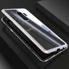 For Samsung Galaxy S8 S9 Plus Magnetic Adsorption Tempered Glass Back Case Cover <br/> The front of the case is without Tempered Glass!