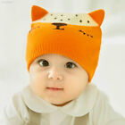 81B1 Cute Baby Fox Hat Knitted Cap Beanie Baby Accessory Autumn Winter Gifts