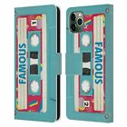 OFFICIAL BROS VINTAGE CASSETTE TAPES LEATHER BOOK CASE FOR APPLE iPHONE PHONES