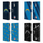 NFL 2017/18 LOS ANGELES CHARGERS LEATHER BOOK CASE FOR MICROSOFT NOKIA PHONES