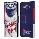 ENGLAND RUGBY UNION 2016/17 THE ROSE LEATHER BOOK CASE FOR SAMSUNG PHONES 2