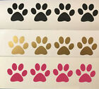 100 Paw Prints Cat Dog Vinyl Decals Stickers Puppy Pink Panthers Pets Yeti Cup