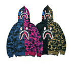 BAPE A Bathing Ape Camo Hoodie Sweatshirts Mens SHARK Head FULL ZIP Jacket Coat