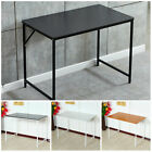 Computer Laptop Table Desk Wood Top Study Office Home Workstation Black/White