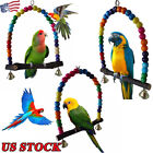 Pet Bird Parrot Cage Toys Swing Bird Toy Supplies Lovebird Wooden Swing Toy New
