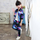 Girls Kids Tracksuit Jacket Pants Suit Baby Sport Outfit Cute Stylish Comfort