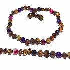Child Anna Green Baltic Amber Amethyst Pink Purple Agate Necklace Love Amber x