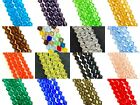 4mm glass crystal faceted bicone beads - approx 16-18 inch strand, choose colour