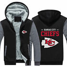 New Kansas City Chiefs Hoodie Winter Fleece Mens Thicken Sweatshirts Coat $18.99 USD on eBay