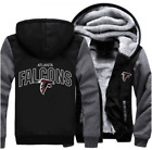 New Hot Thicken Hoodie Team Atlanta Falcons Warm Sweatshirt Lacer Zipper Jacket on eBay