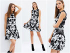 New KAREN MILLEN Floral BNWT £160 Jacquard Evening Party Skater Knit Dress SALE