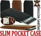 SLIM 3C MADE OF GENUINE LEATHER POCKET CASE COVER SLEEVE POUCH FOR MOBILE PHONES
