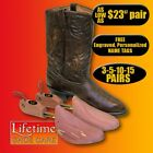 Rochester Western Men's Boot Tree FREE Personalized Engraving 3-5-10-15 Pairs