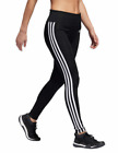 Adidas Women's 3 Stripe Tights Pants Black/White New With Tags Large