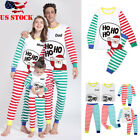 Family New Matching Stripe Christmas Pajamas PJs Sets Xmas Sleepwear Nightwear