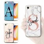 Personalised Custom Marble Initial Name Gel Phone Case For Apple Iphone Cover